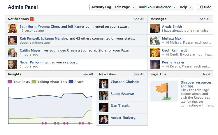 Facebook Fan Page Timeline View - The New Admin Panel
