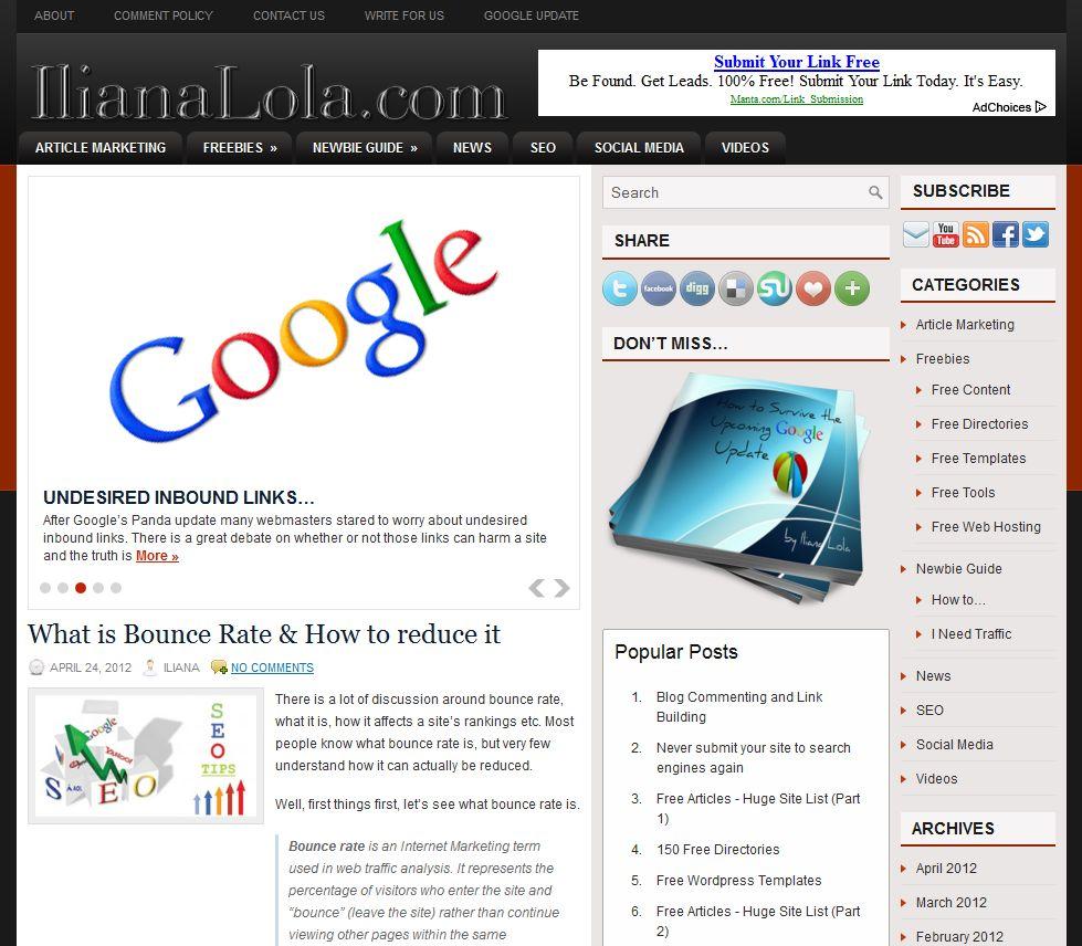 Free Blog Review of IlianaLola.com