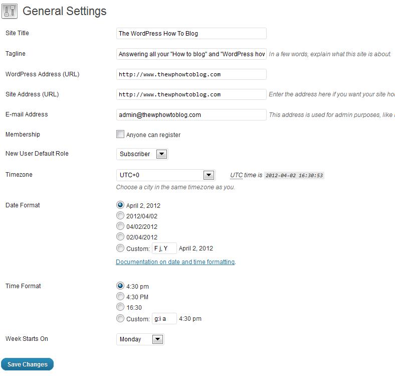 WordPress Configuration and Setup - www or no www