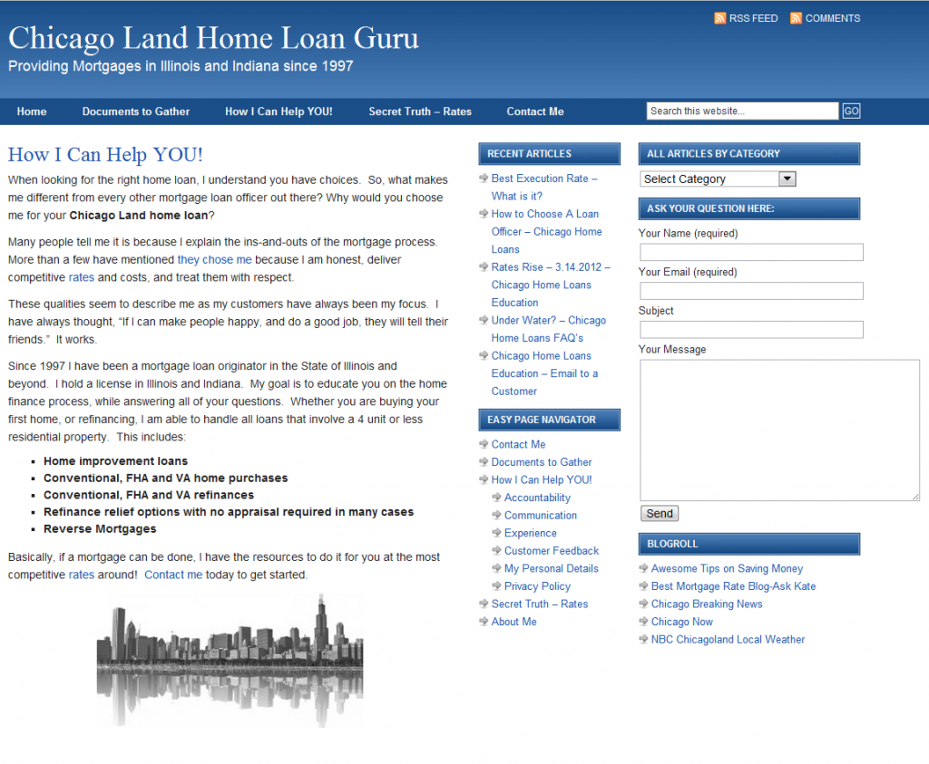 Free Blog Review of ChicagoHomeLoansGuru.com
