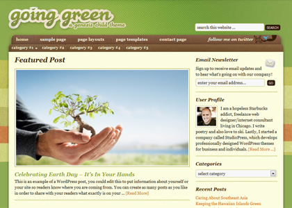 Genesis Going Green Theme