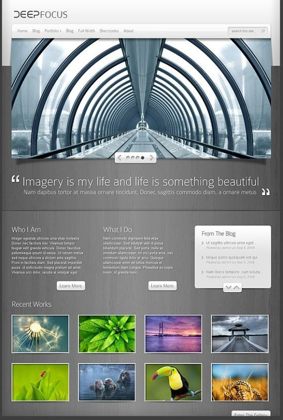 DeepFocus Theme - WordPress Themes for Photographers and Photography Blogs