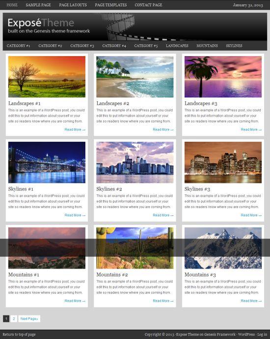 Expose - Portfolio and Photography Blog WordPress Theme