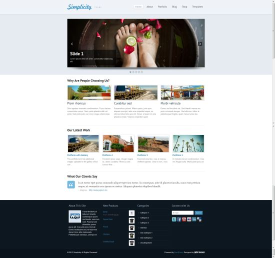 Simplicity - Photography Theme By Woothemes